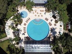 Vista áerea piscina Vivaz Resort