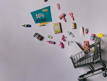 Carrinho de compras com desconto imperdíveis